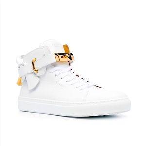 Buscemi High-Top Padlock Sneakers White